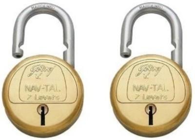 Godrej 7 Levers Deluxe Hardened Lock(gold)