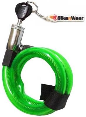 ERCO Multi-Purpose Spiral Transparent Green Cable Lock