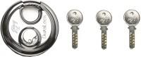 Godrej Duralock 3 Keys 90 mm Lock(Silver)
