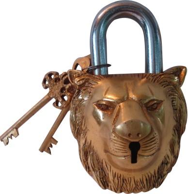 Aakrati Lion Face of brass Padlock