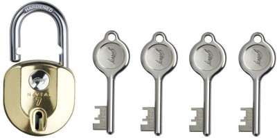 Godrej NAVTAL NXT BRASS 7 LEVERS LOCK (4 KEYS) Padlock(GOLDEN)