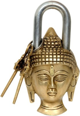 Aesthetic Decors Buddha Head Design Padlock Padlock