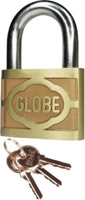 Globe 2 Inch With 3 Keys Padlock(Goldden)