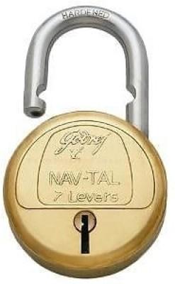 Godrej 7 Levers Deluxe Hardened (3 keys) Padlock(Gold)