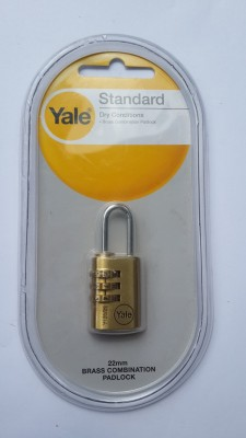 YALE CLASSIC SERIES PADLOCK Combination Lock