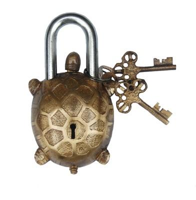Aakrati Tortoise Figure Pad lock of Brass Padlock