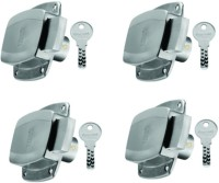 DORSET secura stainless steel cupboard lock (pack of 4) Lock(Silver)
