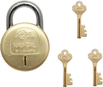 Godrej Navtal 8 Levers Deluxe Hardened - 3 keys Lock