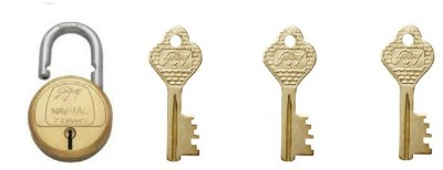 Godrej 7 Levers Deluxe Hardened - 3 keys Lock