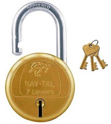 Godrej Navtal 7 Levers Hardened - 3 Keys Lock(Gold, Silver)