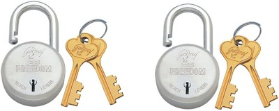 Godrej FREEDOM (WITH SOLIDEX) 7 LEVERS Padlock(Multicolor)