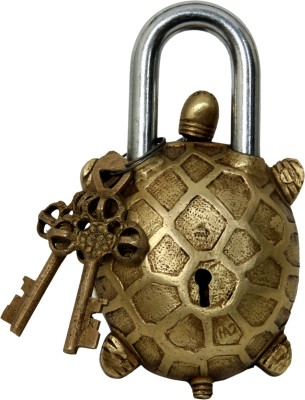 Aesthetic Decors Brass Tortoise Design Padlock