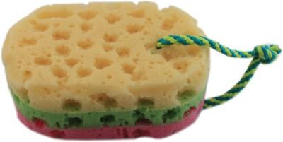 Tootpado Sponge Loofah Body Scrubber (Rounded Rectangle) - Multicolor - Bath & Bathroom Accessories