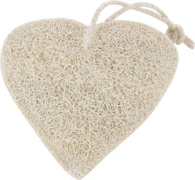 PANACHE Natural Heart Loofah, Exfoliating Bathing Tool
