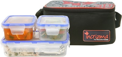 Incrizma 3101BLK 3 Containers Lunch Box