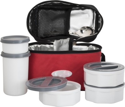 Top Ware Bestway Insulated Luch Box with Spoon and Glass - 5 Piece 5 Containers Lunch Box