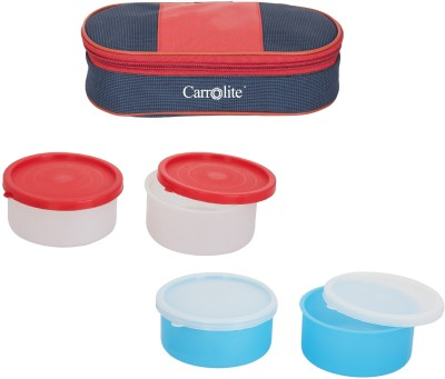 Carrolite Combo Royal Red Blue With 2 Extra Boxes 4 Containers Lunch Box