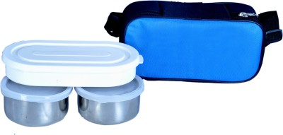 Homekitchen99 Dhoom 3 Tiffin With Cover 3 Containers Lunch Box