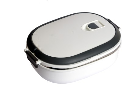 Chrome Lunch Box (Single Compartment) 9707W 1 Containers Lunch Box