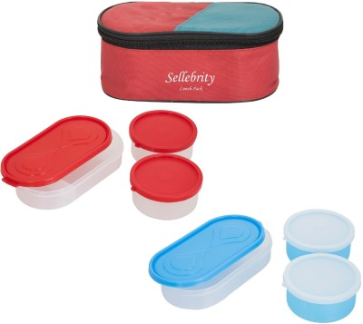 Sellebrity Rectangle 3 in 1 With 3 Boxes 6 Containers Lunch Box(1300 ml)