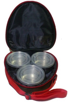 De BlueMix Insulated Thermal Tiffin Stainless Steel 3 Containers Lunch Box