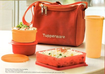 Tupperware BL09818181 3 Containers Lunch Box