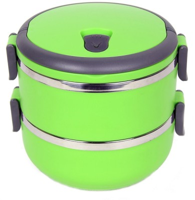 Blossoms Two Layer Green 2 Containers Lunch Box