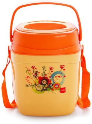 Cello World Relish3-Orange 3 Containers Lunch Box