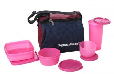 Signoraware Best - Pink 4 Containers Lunch Box