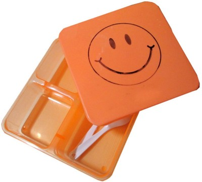 Goldcave 1 Square Smiley 3 Containers Lunch Box
