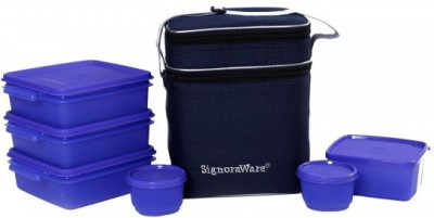 Signoraware Family Pack Lunch Box -Violet 6 Containers Lunch Box