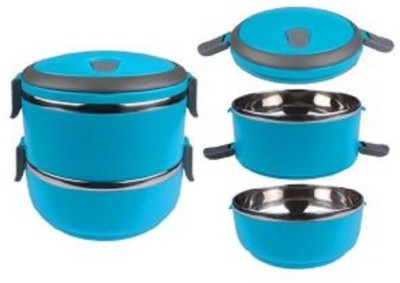 Dass Blue Stainless Steel 2 Containers Lunch Box