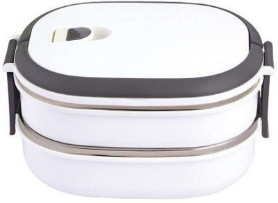 Krypton Assorted-2-WHT-REQ-02 2 Containers Lunch Box