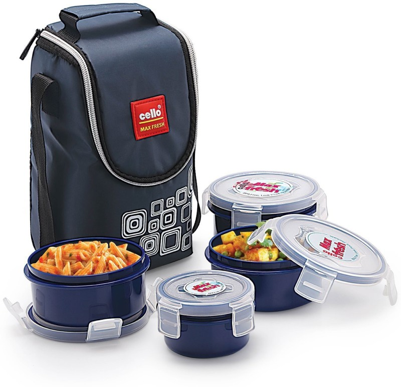 Cello Max Fresh Click 4 Containers Lunch Box(500 ml)