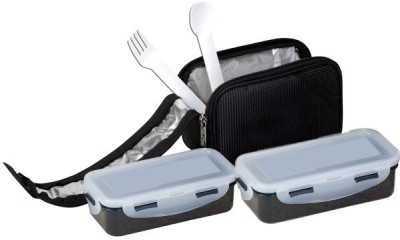 Icable 2 Containers 470 ml ( With spoon & fork) 2 Containers Lunch Box