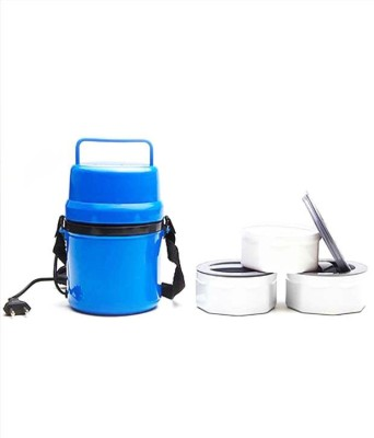 Capstone Electric Microweavable 3 bw 3 Containers Lunch Box