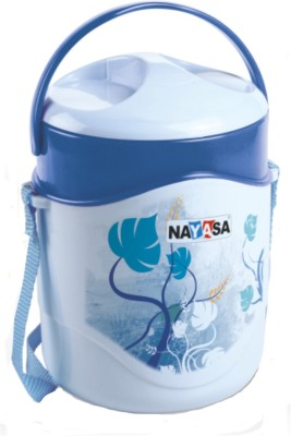 Nayasa Zeal Blue 1400 ml 4 Containers Lunch Box