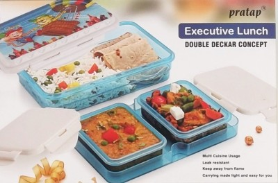 Pratap Executive Lunch Box 3 Containers Lunch Box