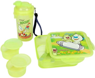Pratap Hyper Locked Gift set green 3 Containers Lunch Box
