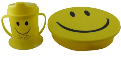 Infinxt Stylish Smiley Yellow Z 1 Containers Lunch Box