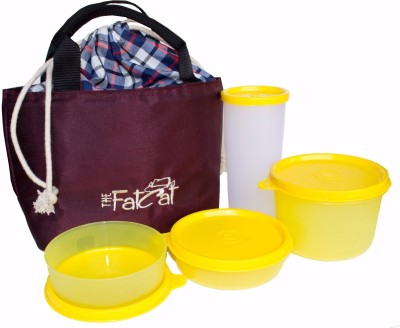 The Fat Cat lb_001 4 Containers Lunch Box