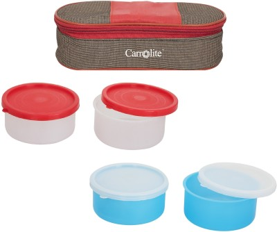 Carrolite Combo Royal Red Brown With 2 Extra Boxes 4 Containers Lunch Box