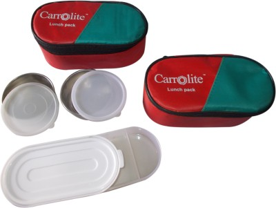 Carrolite Combo Red 3 Containers Lunch Box