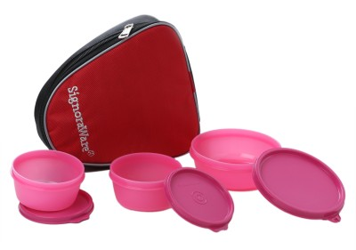 Signoraware Sleek Lunch with Bag 3 Containers Lunch Box