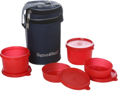 Signoraware Executive Lunch Box (with Bag) 4 Containers Lunch Box