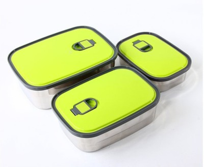 Gift Studio Rectangular 3 Containers Lunch Box