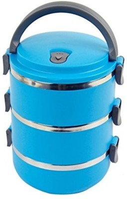 Dass Blue Stainless Steel 3 Containers Lunch Box