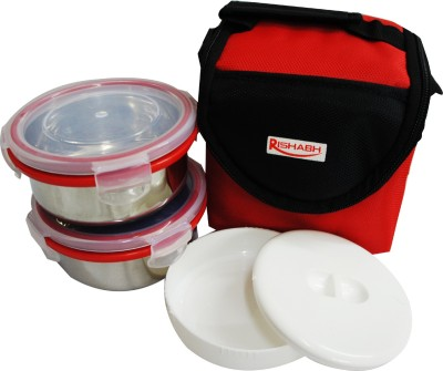 Rishabh Super Lunch 2 3 Containers Lunch Box