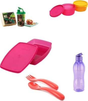 Tupperware School Set 6 Containers Lunch Box