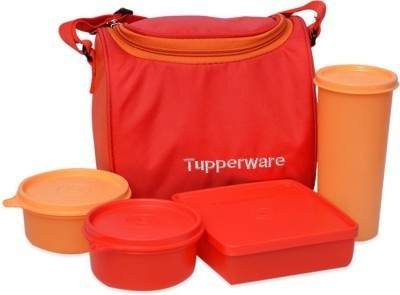 SUNVI TUPPERWARE MULTI-PURPOSE LUNCH BOX 4 Containers Lunch Box